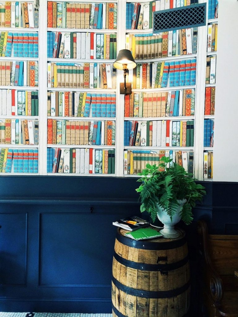 Bookshelf Wallpaper Tipsy Parson