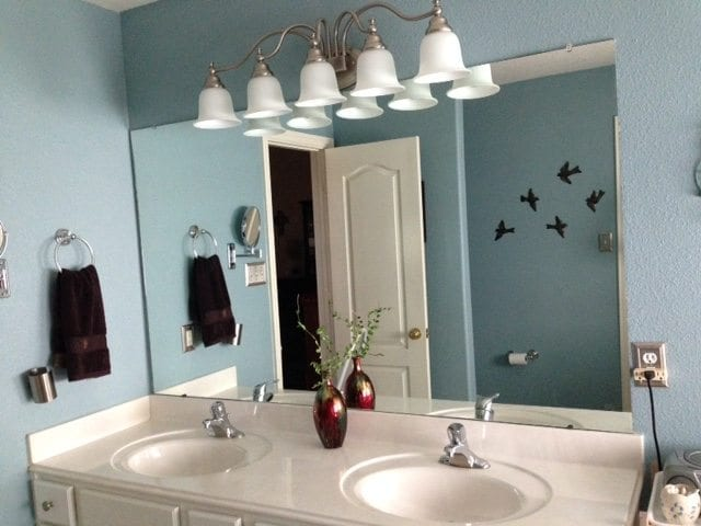 bathroom mirror without a frame