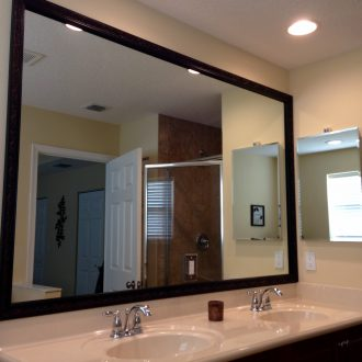 add a frame to bathroom mirror kit Val Verde (Bronze)