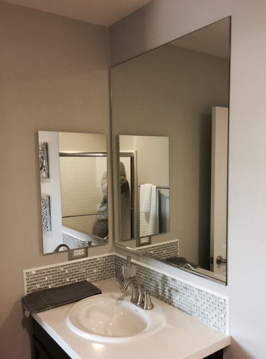 add a frame customer framed bare bathroom mirror