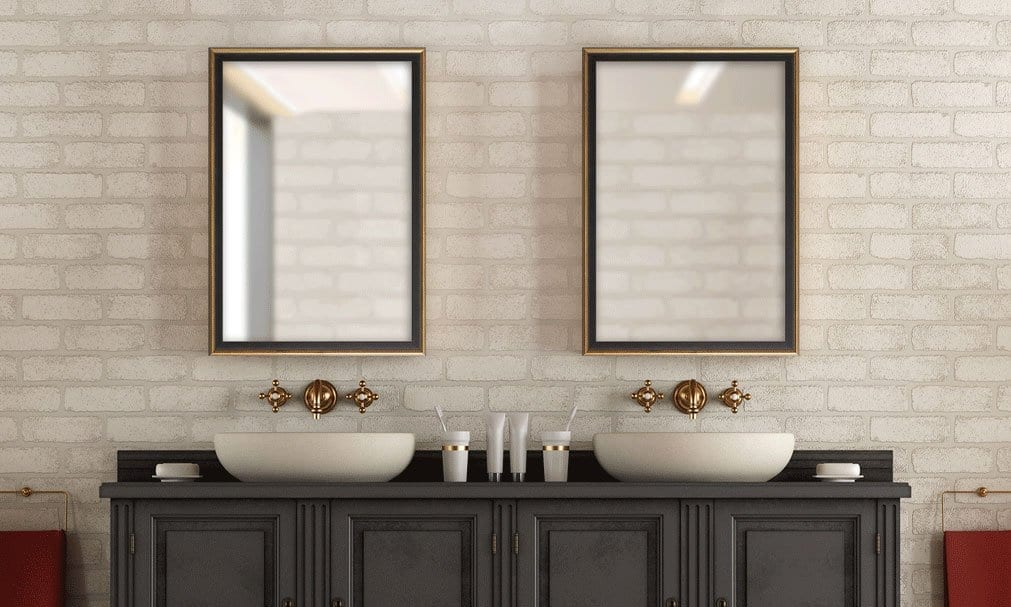 Custom diy bathroom mirror frame kits - Frame bathroom mirror with moulding ...